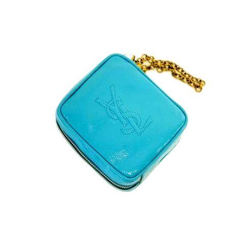 YSL Belle du Jour Turquoise Wristlet - LuxuryProductsOnline