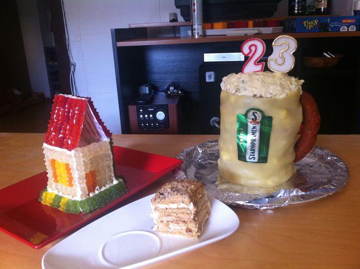 Dům z gumových medvídků Medovník Slaný dort