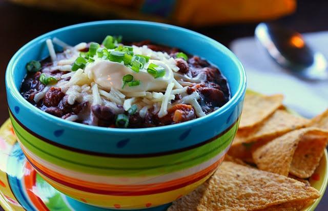 Vegetarian Black Bean Chili   ~ Vegetarian Foods~   Pinterest