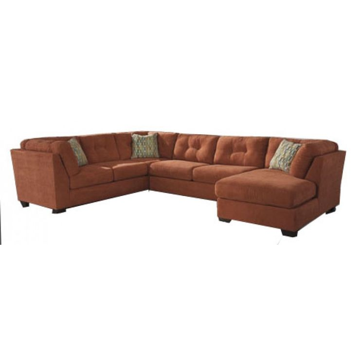 Delta City-Rust Right Arm Facing Sectional