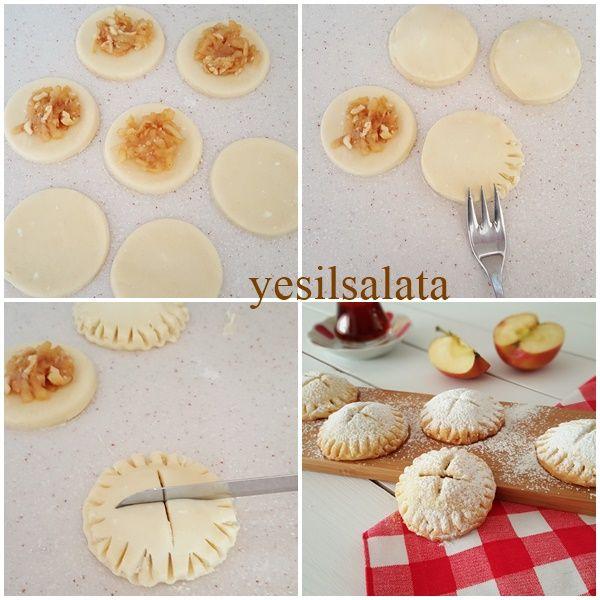 Elmalı Kurabiye   YeşilSalata.com