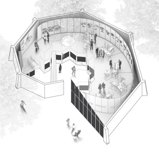 """""""Arctic Adaptations: Nunavut at 15"""" to represent Canadian Pavilion at 2014 Venice Biennale   Rendering of Arctic Adaptations: Nunavut at 15 in the Canadian Pavilion. Image courtesy of Lateral Office   Bustler"""