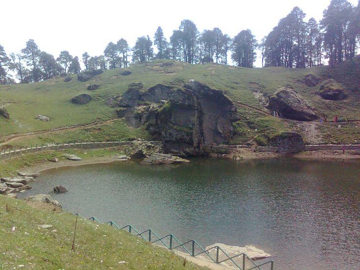 A lake at Jalorijot top in Kullu district of Himachal Pradesh