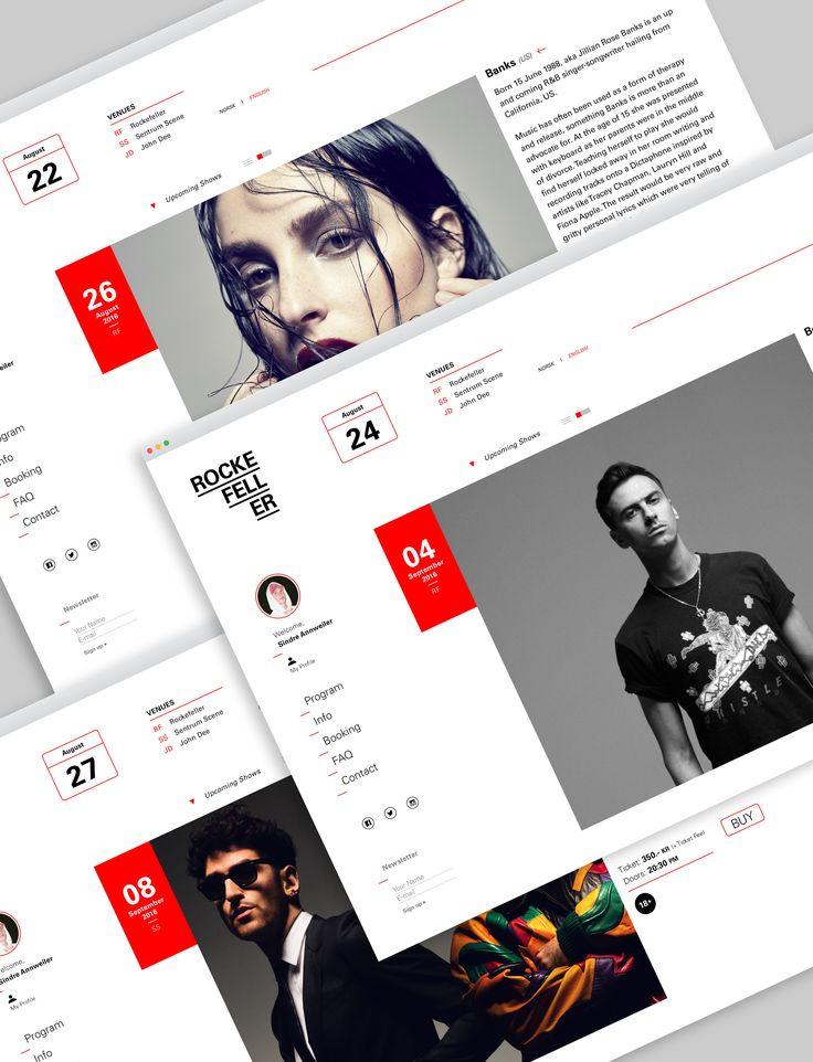 Rockefeller Oslo – Website Redesign on Behance