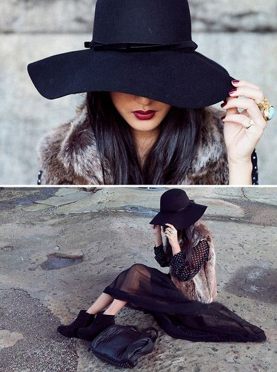 Dark hat + dark hair = lovn!