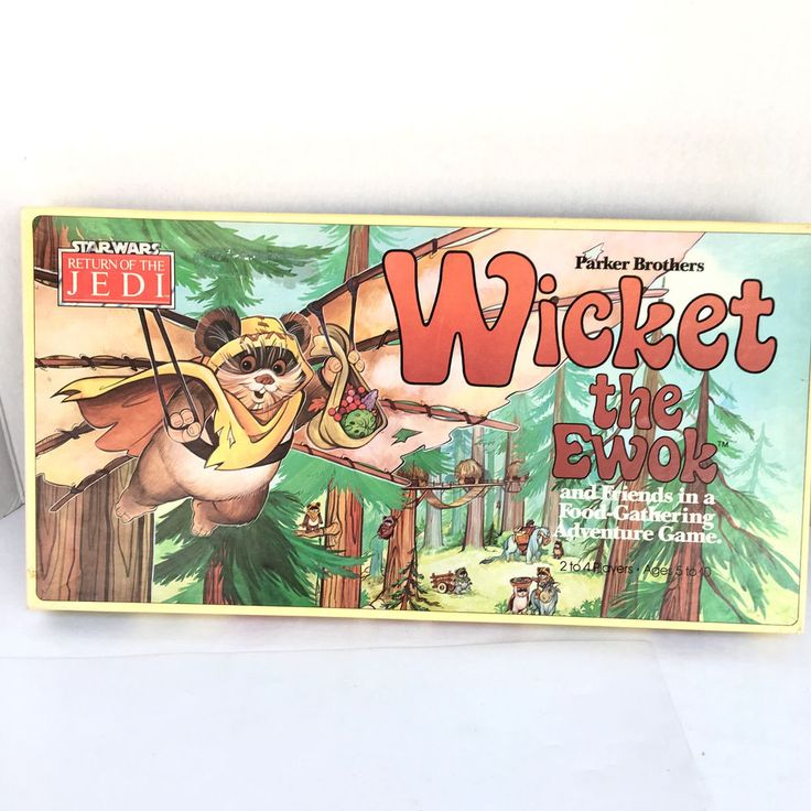 1983 Stars Wars Parker Brothers Wicket The Ewok 0079 Complete Board Game  #ParkerBrothers