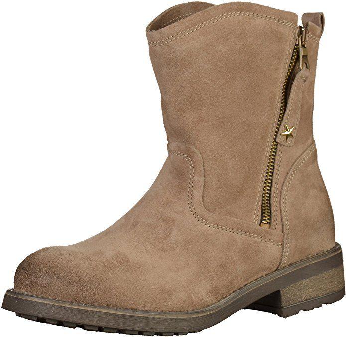 Tamaris Damenschuhe 1-1-25454-29 Damen Stiefel, Boots, Damen Stiefeletten, Herbstschuhe & Winterschuhe für modebewusste Frau braun (TAUPE), EU 36