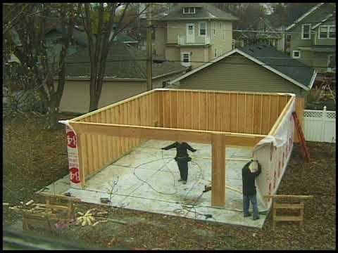 Building your own 24'X24' garage and save money. Steps from concrete to framing. - YouTube