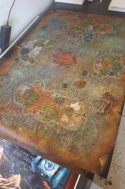 Big Azeroth map - World of Warcraft map - Fantasy map - WoW ! Legion in Art,Art from Dealers & Resellers,Posters | eBay