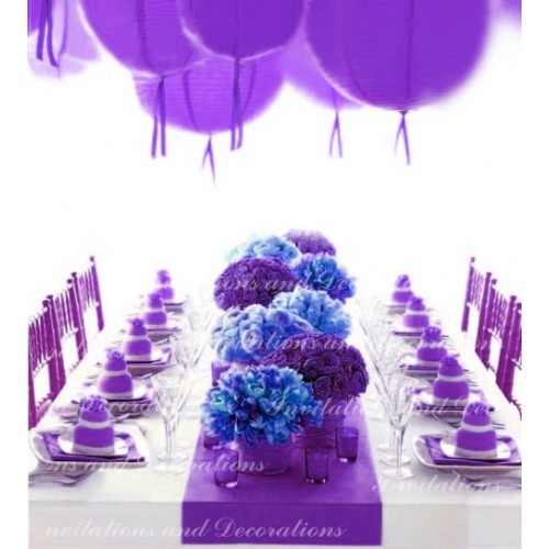 luscious purple table runner ...