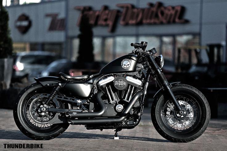Black Skull  Sportster 48 customized by Thunderbike