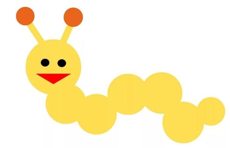 Веселая гусеница. Аппликация для малышей. в 2020 г | Для ...
