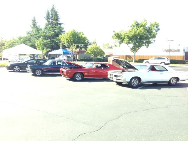 Some members of The Nor Cal GTO Club were present at the Grand Opening of the freshly remodeled Jimboy's Tacos in Folsom, Ca. on May 21st, 2014