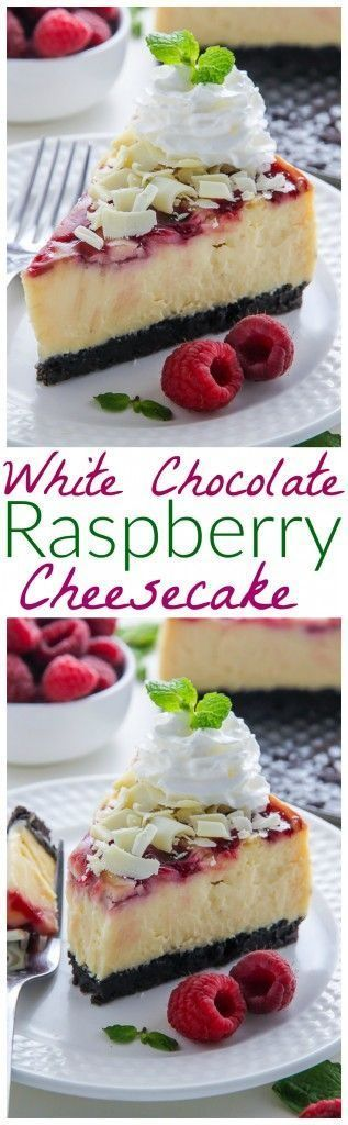 White Chocolate Raspberry Cheesecake 3 hrs to make, makes 12 slices