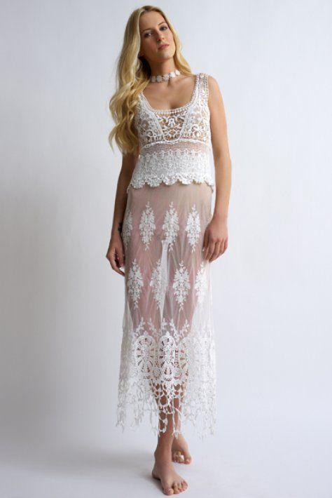 Durga - bloeur.gr lace white dress boho caftans beachwear summer 2017 bloeur wedding gamos
