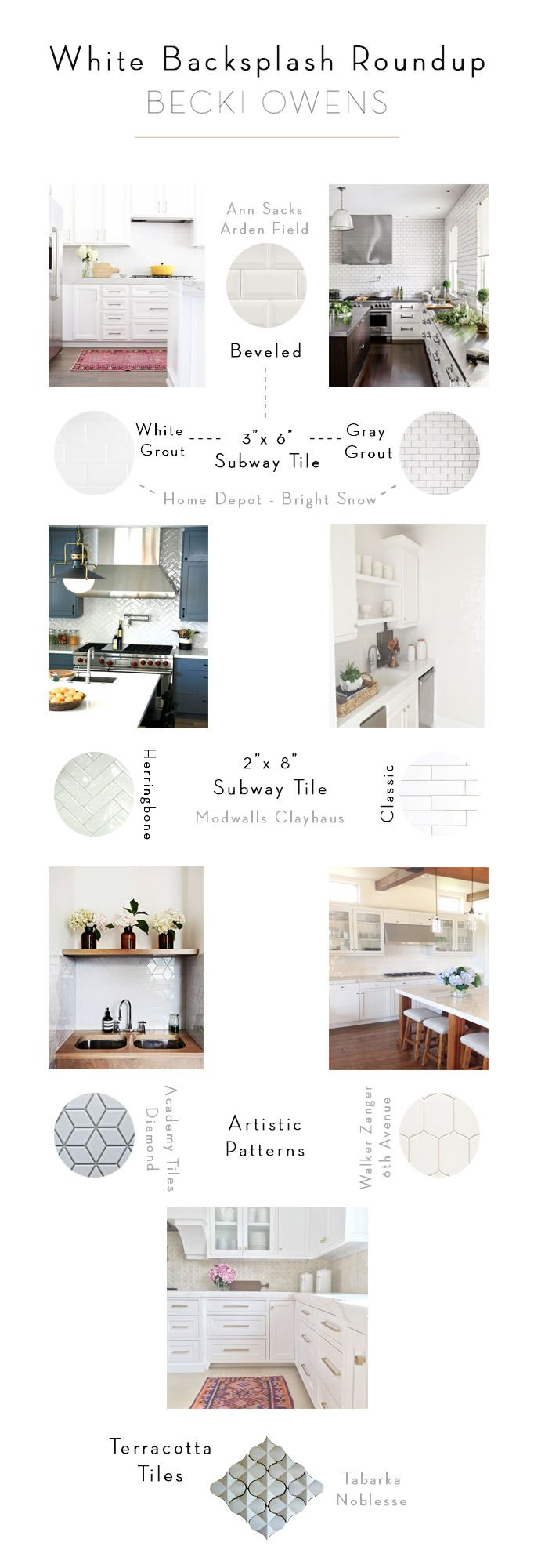 Best 25 beveled subway tile ideas on pinterest white beveled white backsplash roundup love ann sacks beveled subway tile and academy tiles diamond dailygadgetfo Images