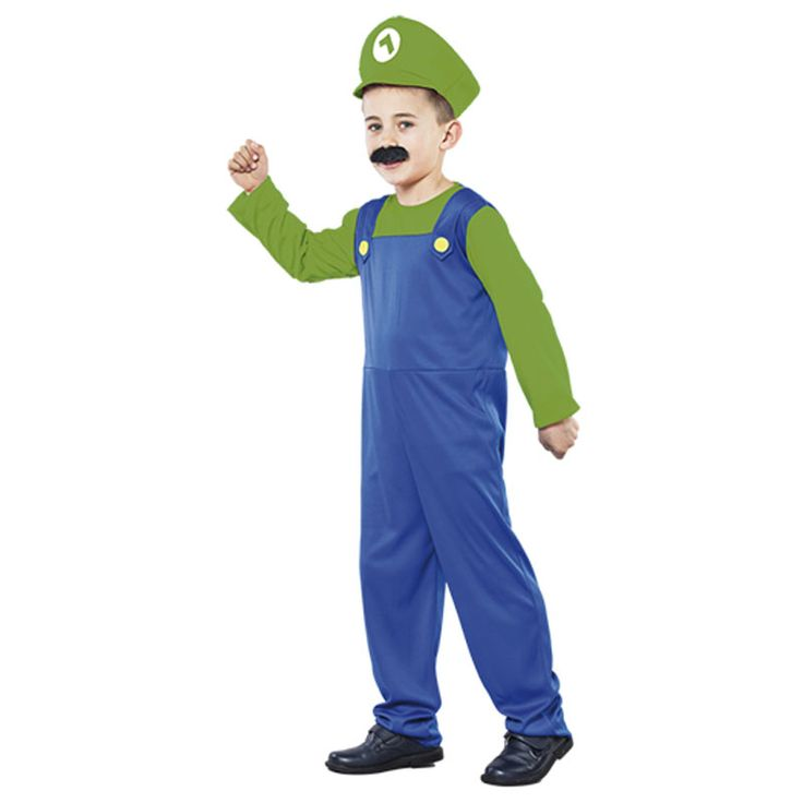 Déguisement Plombier Luigi #déguisementsenfants #costumespetitsenfants #nouveauté2016