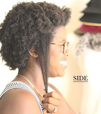 The nature of Afro texture hair. Shrinkage!