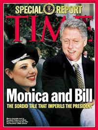 The Monica Lewinsky Scandal.  President Clinton was accused of having sex with her. His public denial was later proven to be a lie when semen found on her dress had his DNA.