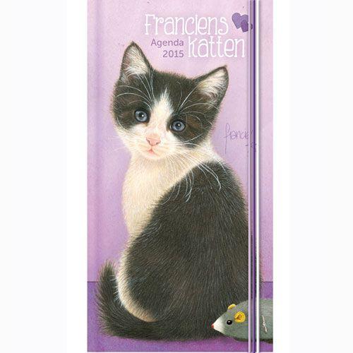 Lady agenda 2015 Franciens katten; een handig formaat (zak)agenda met tekeningen van de hand van Francien van Westering, van de bekende column 'Franciens katten'. €8,99