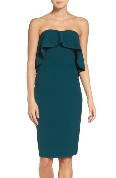 Chelsea28 Ruffle Stretch Crepe Sheath Dress available at #Nordstrom