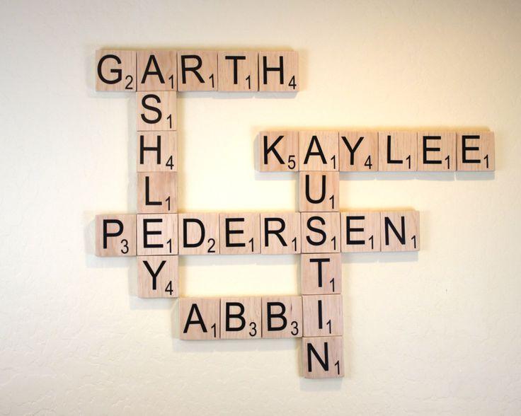 "Large Scrabble Tiles - 3.5"" Large Scrabble Letters  - Scrabble Wall Art - Personalized Wood Scrabble Letters - Giant Scrabble Letters - LST by SweetJeanShop on Etsy https://www.etsy.com/listing/181930037/large-scrabble-tiles-35-large-scrabble"