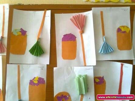 Okul öncesi Temizlik ile ilgili sanat etkinliği #okulöncesi #kindergarden #motorgelişim