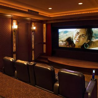 stage curtains design ideas pictures remodel and decor media room designhome theater - Home Theater Stage Design
