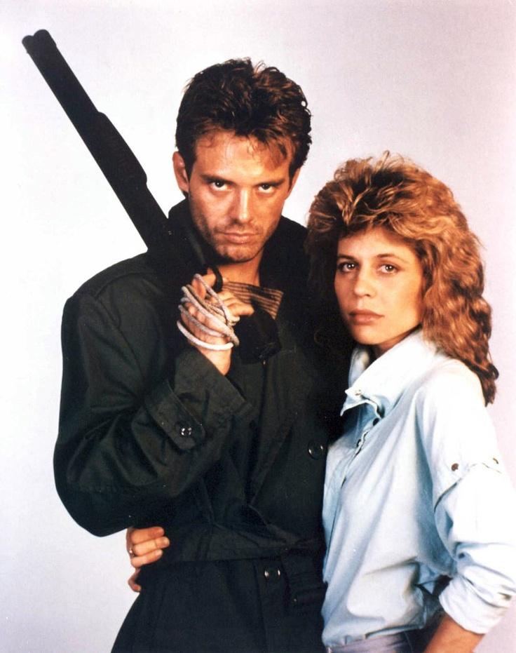 Michael Biehn as 'Kyle Reese'  Linda Hamilton as 'Sarah Connor' in The Terminator (1984)