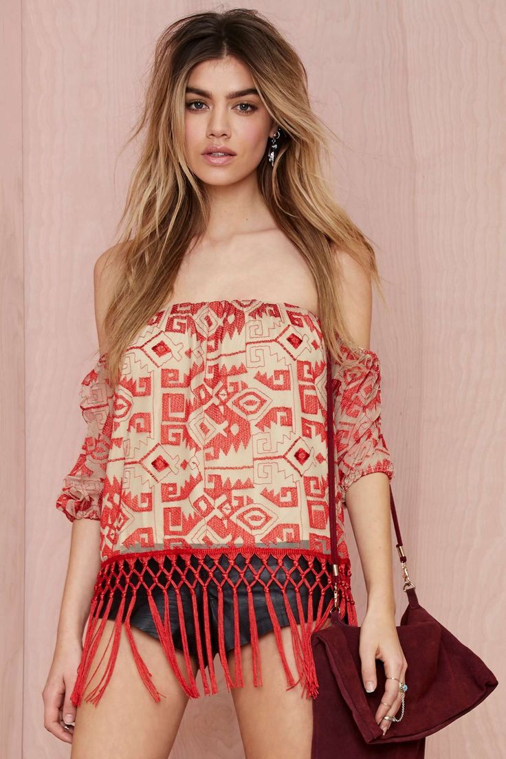 Line & Dot Other World Embroidered Top