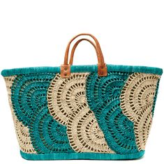 Santorini Crocheted Basket Tote... Ideas..