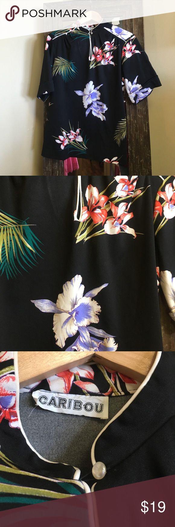 Cute vintage Hawaiian shirt sz m/l Bulk floral vintage Hawaiian shirt sz m/l vintage Tops Tunics