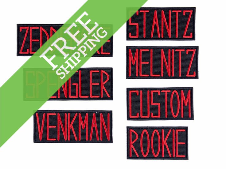 Ghostbusters Name Badges GB1 Uniform Embroidered Iron On Patch - FREE SHIPPING by WinksForDays on Etsy https://www.etsy.com/listing/248113554/ghostbusters-name-badges-gb1-uniform