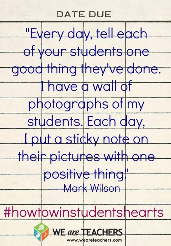 Such a cool idea! This will help each student feel important, needed, and supported in the classroom. I would maybe allow other students to write complements for their peers as well (but make sure that everyone is included, not just a few people). This can also help to create great bonds between students and teachers. Everyone wants to feel important!