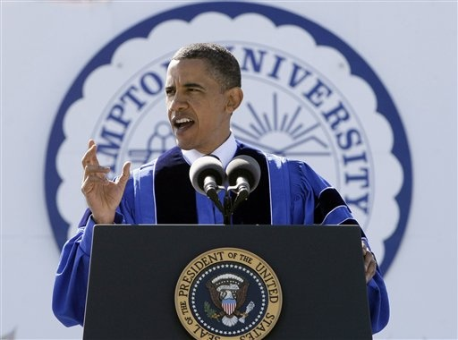 Barack Obama at Hampton University!