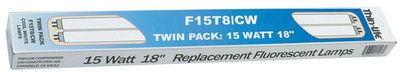"Thin-Lite F15T8/CW/TWIN White 18"" Pr 15 Watt Cool Bulb"