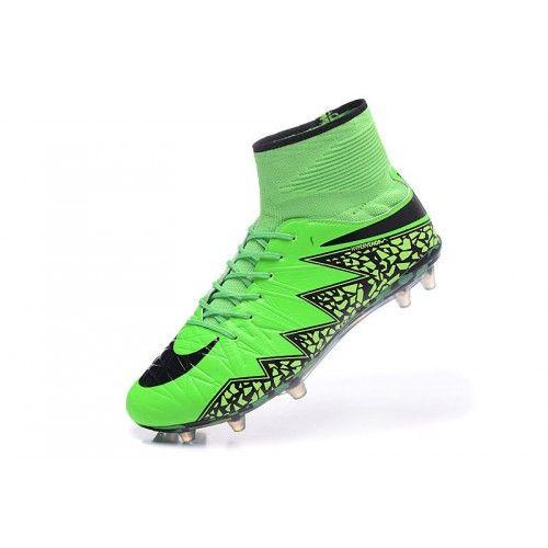 salg nike hypervenom fodboldstøvler billig nike hypervenom phantom ii fg grøn sort fodboldstøvler