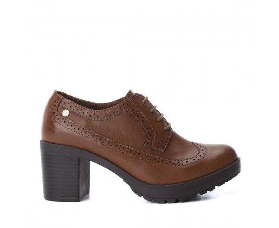 Zapato mujer Xti Basics cordones nº36 camel 33571