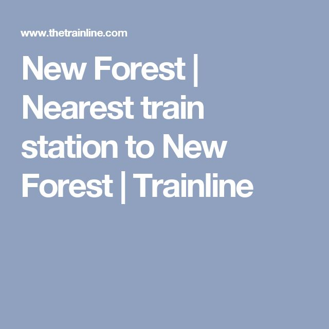 New Forest | Nearest train station to New Forest | Trainline