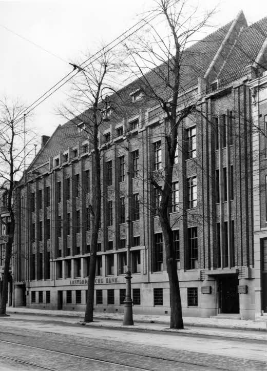 "August 8, 1941. The bank Lippmann, Rosenthal & Co opened a branch in this building at the Sarphatistraat in Amsterdam.  The branch was called ""Liro"" and operated as a registration office were Jews and Jewish institutions were required to register their assets. They are not allowed to have accounts at other banks. By January 1942 all stocks, bank accounts and other properties of Jews were confiscated. Photo Stadarchief Amsterdam / J. van Dijk #amsterdam #worldwar2"