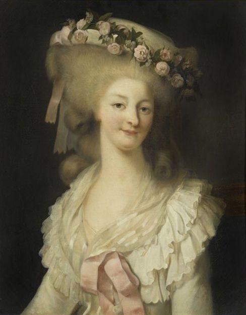 1780-1785 Marie Therese de Savoie, Princesse de Lamballe by Edouard Louis Rioult (Versailles)