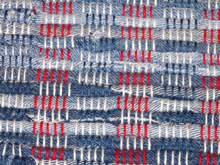 Weaving For Fun : Another Rug - Blue Jeans | Interesting