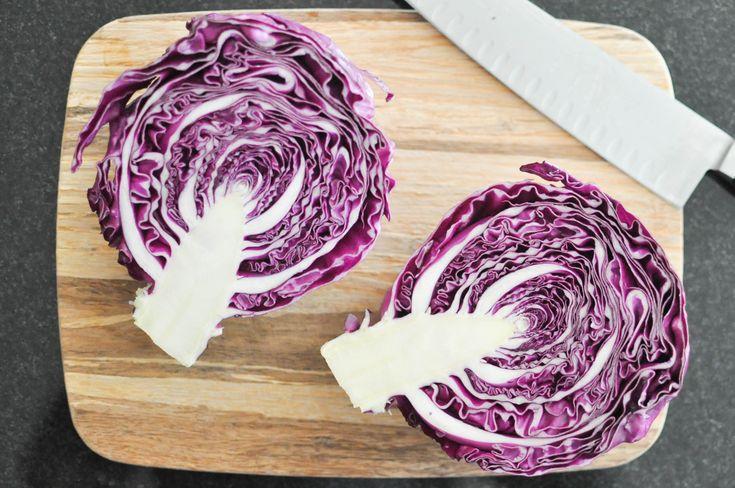 recetas bajas en calorías con repollo morado