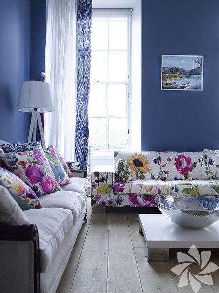 Rengârenk oturma odaları...