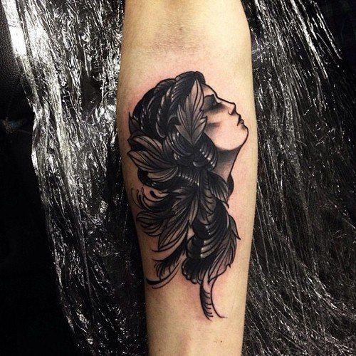 pretty girl's tattoo