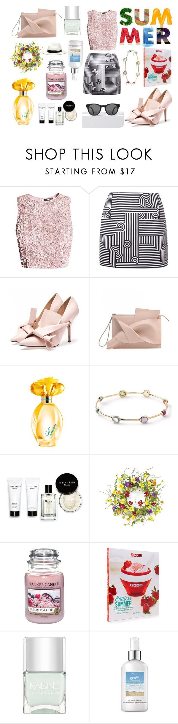 """""""Summer"""" by i-am-tatia ❤ liked on Polyvore featuring Victoria, Victoria Beckham, GUESS, Ippolita, Bobbi Brown Cosmetics, Yankee Candle, Nails Inc., philosophy, rag & bone, love and sundance"""