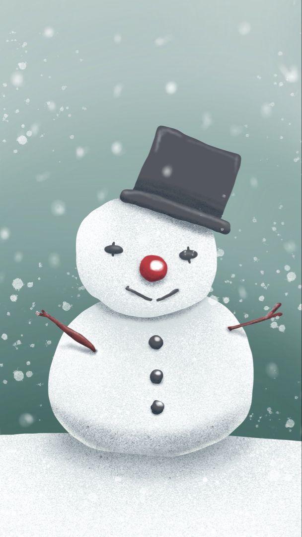 Snowman Snowman Wallpaper Vibe Aesthetic Wallpaper Wallpaper Beautiful cute snowman wallpaper for