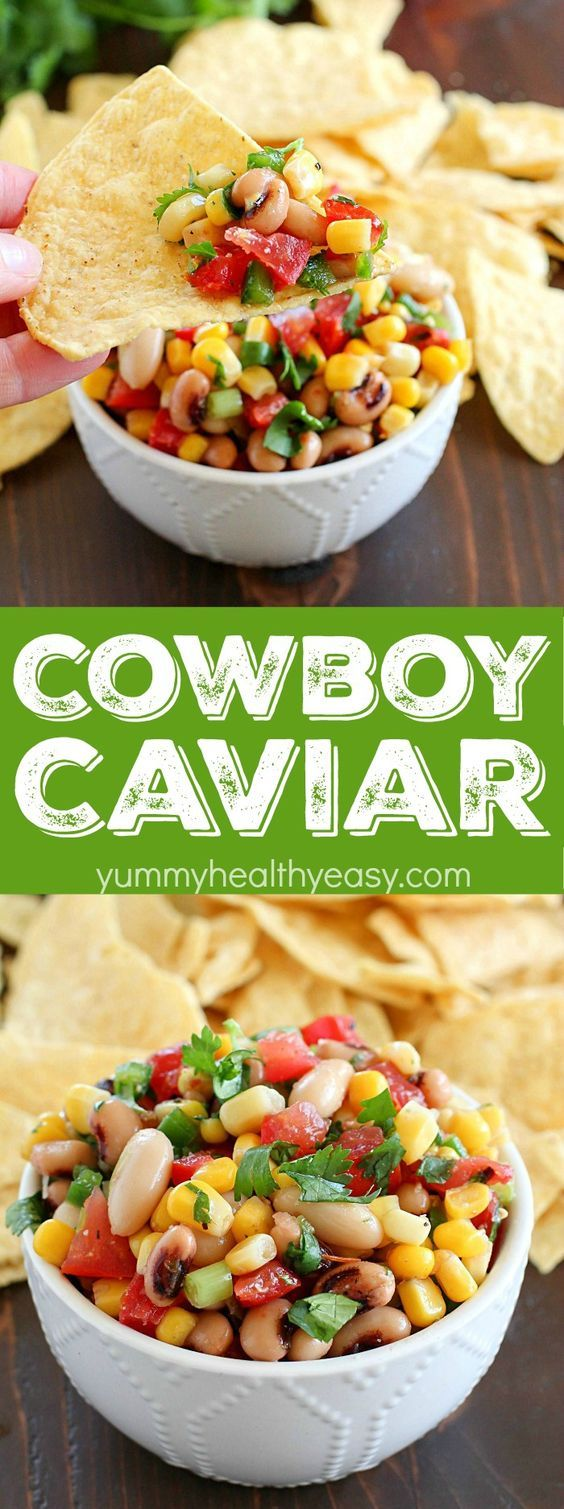 Cowboy Caviar is one of the easiest appetizers to make because you throw everything in one bowl and it's done! Plus it's full of flavor and textures, this is a definite crowd-pleaser!