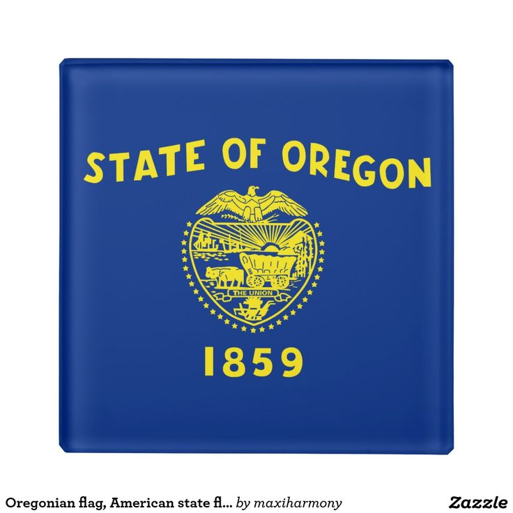 Oregonian flag, American state flag Glass Coaster