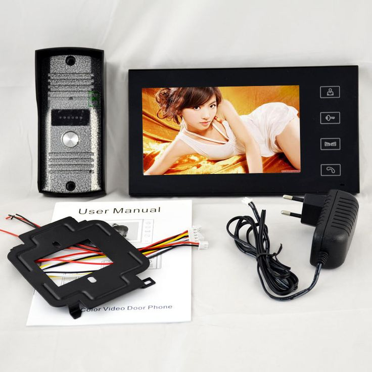 """Home Security 7 """"Inch TFT Layar Sentuh LCD Warna Video Pintu Telepon Bel Intercom sistem Night Vision Kamera Doorphone Mata"""